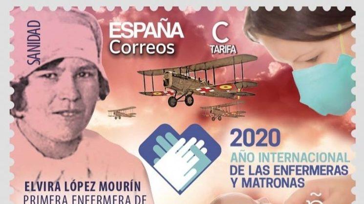 Sello Elvira López Mourín. Sólo 50 primeras unidades