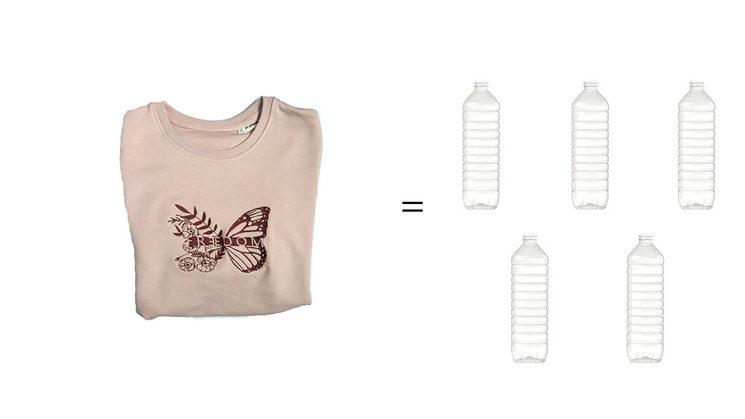 1 sudadera=5 botellas recicladas