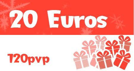 Por cada 20 euros de donación aportaremos juegos por valor de 120 a las donaciones.