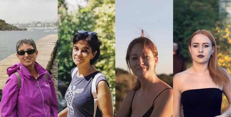 Marga, Macarena, Ana Luz y Sara