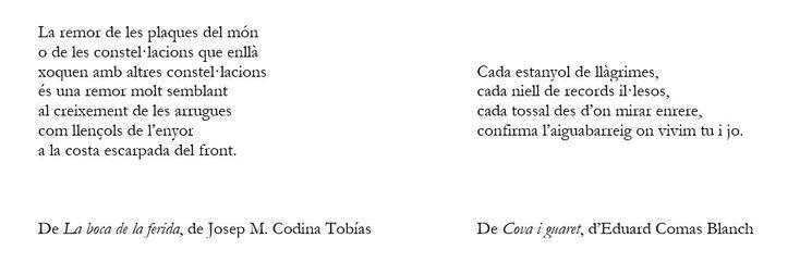 Estrofes dels poemaris
