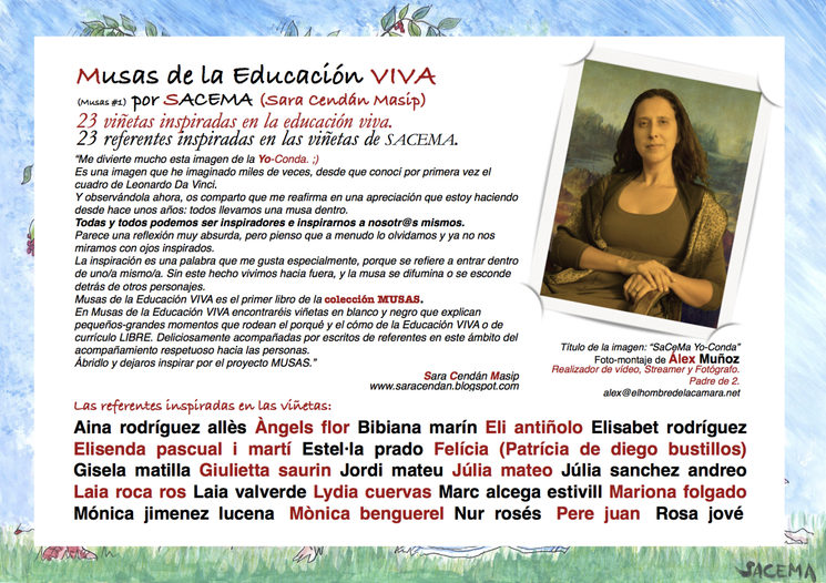 Cubierta posterior de Musas of the FREE Education