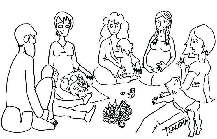 """Parenting group"" vignette ··· Muses of the EMPOWERED Motherhood ··· by SACEMA"