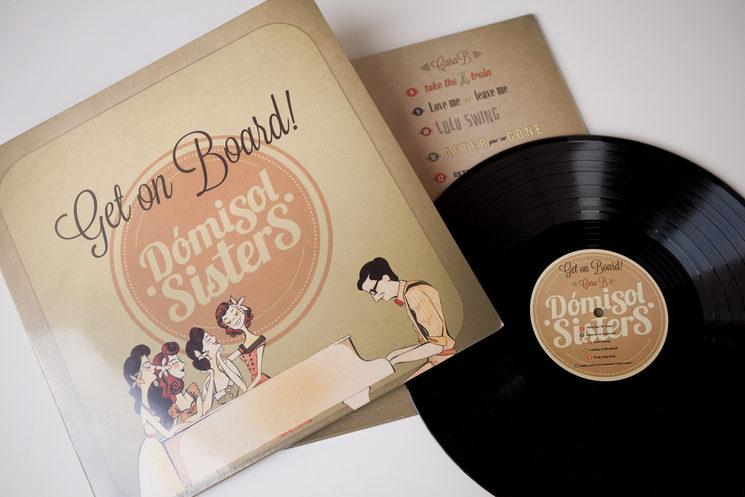 """Vinilo de nuestro primer disco: """"Get on Board!"""""""