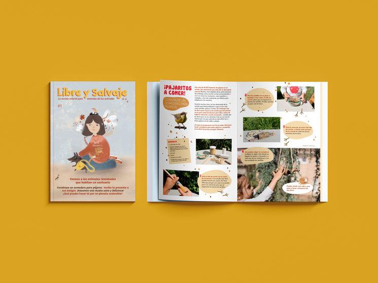 Así será nuestra revista: la portada y nuestro taller de reciclaje.