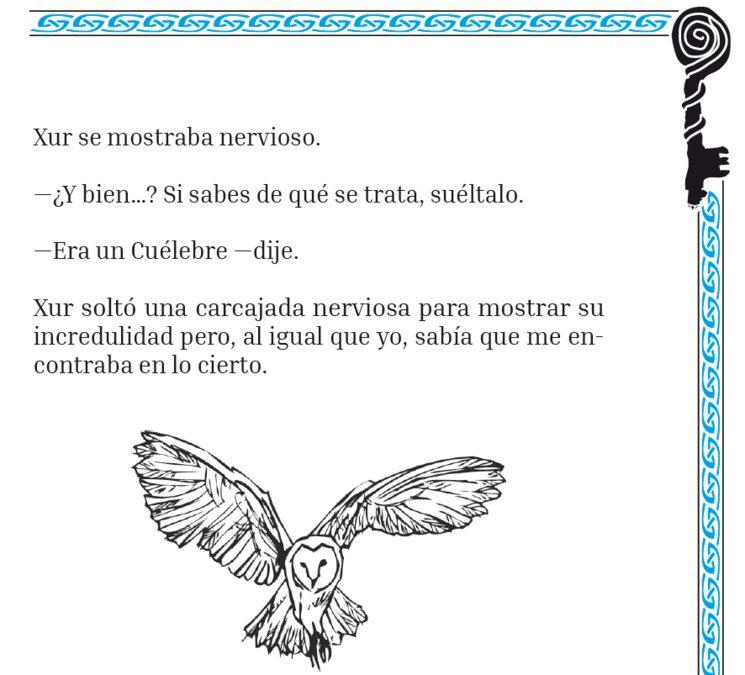 """Detalle del relato del """"Cuélebre"""""""