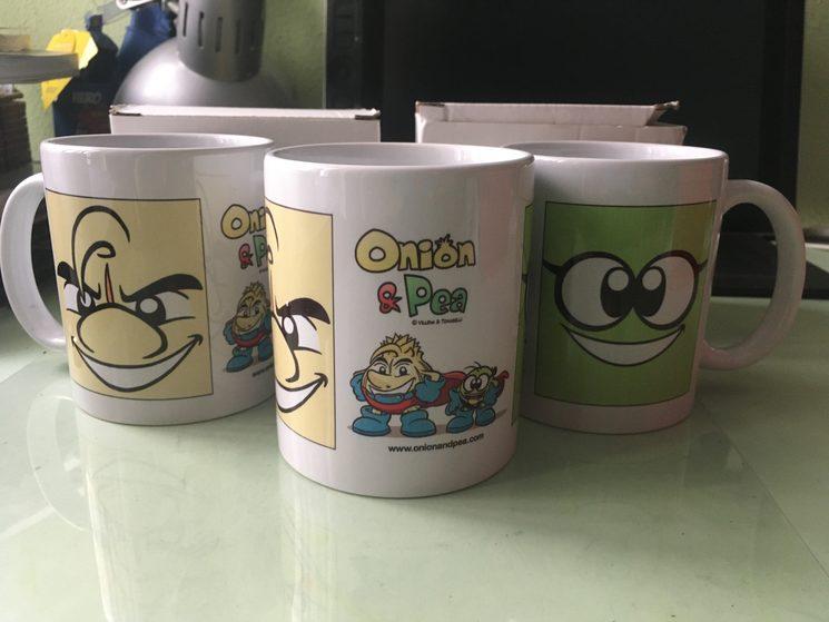 Ya llegaron las tazas.
