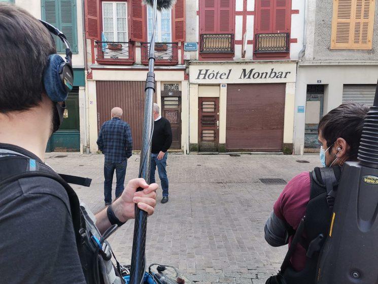Rodaje en Baiona en lugares de triste recuerdo de la guerra sucia