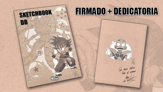 SketchBook DB Firmado y Dedicado con un Personajes a elegir.