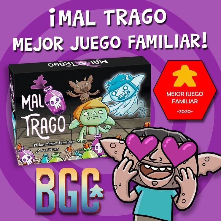 """¡¡MAL TRAGO Ganador """"Mejor Juego Familiar"""" en BGC!! :D"""