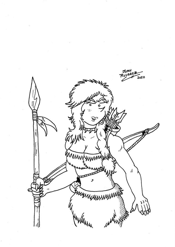 Shonna - Ilustración a tinta