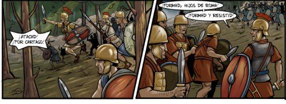 El ejército romano, a punto de recibir la carga púnica
