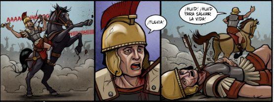 Estas viñetas NO forman parte de El elegido de Baal, pero en ellas se ve a Lucio Mario... sufriendo un funesto destino