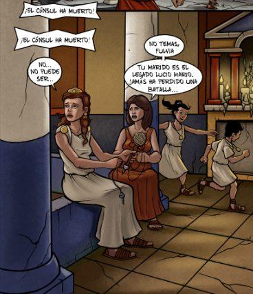 Fulvia Quinta, en el atrio de su domus.
