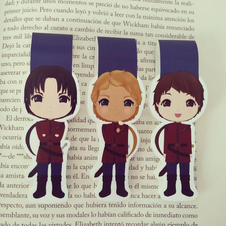 Marcapáginas magnéticos de Joel, Mattia y Aaron