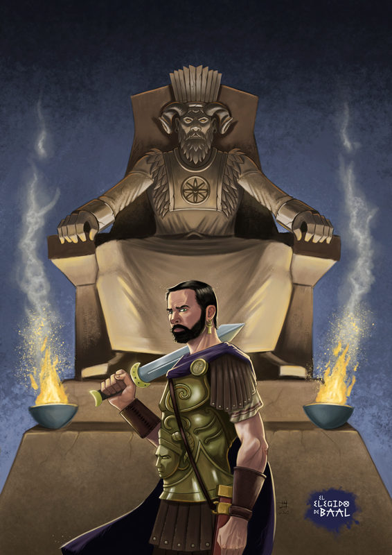 Aníbal, frente a la estatua de Baal