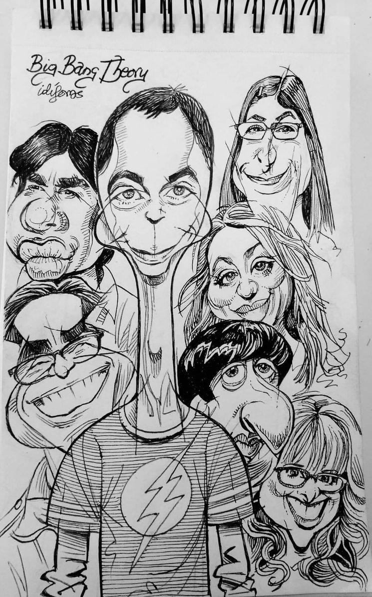 Caricatura por Ángel Idígoras.