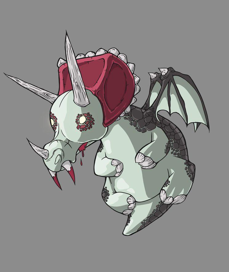 Vampiceratops inspirado en el triceratops