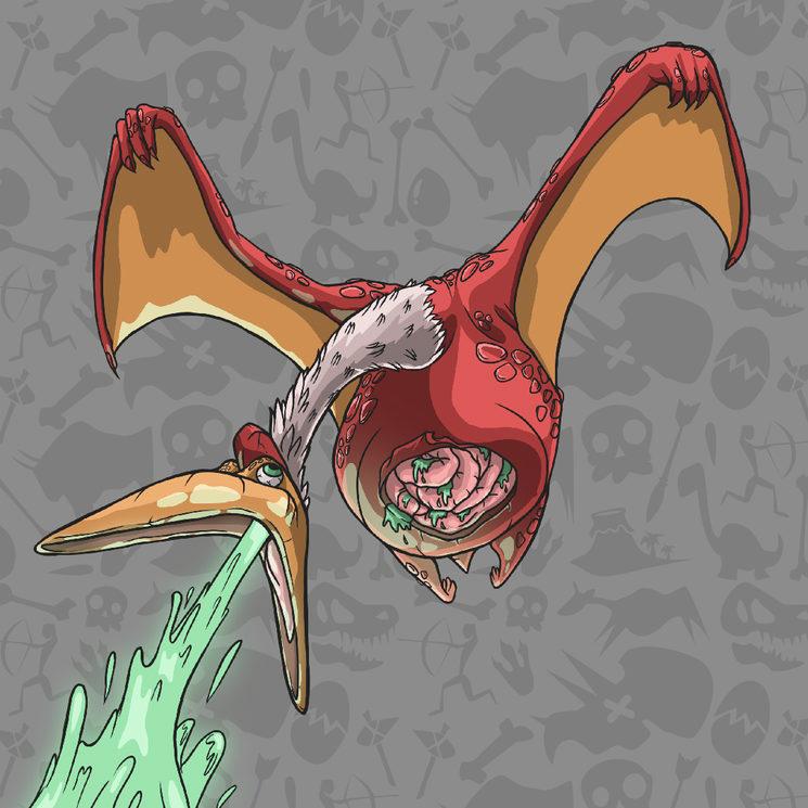 Vomitodáctilo inspirado en el quetzalcoatlus
