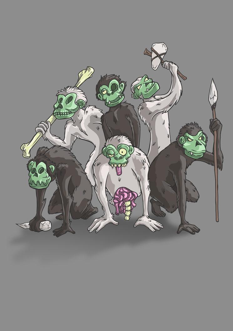Necro- homínidos, inspirados en el austrolopithecus