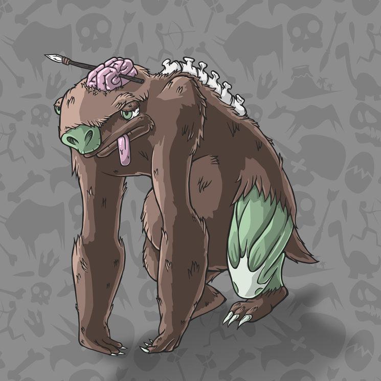 Perezoso inspirado en el Megalonyx