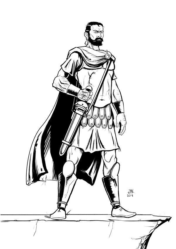 Dibujo a tinta de Aníbal