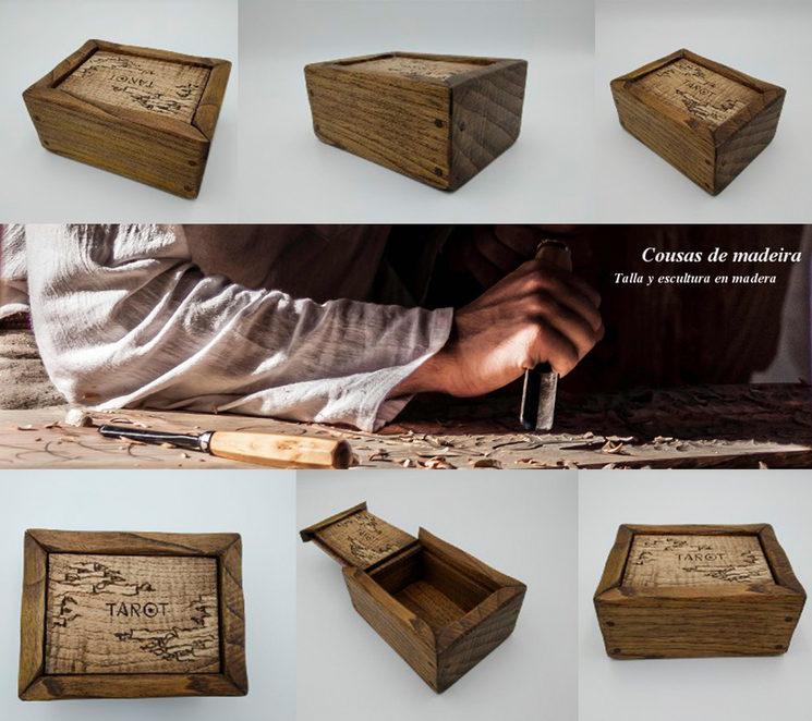 Caja de madera para la baraja realizada por cousas de madeira