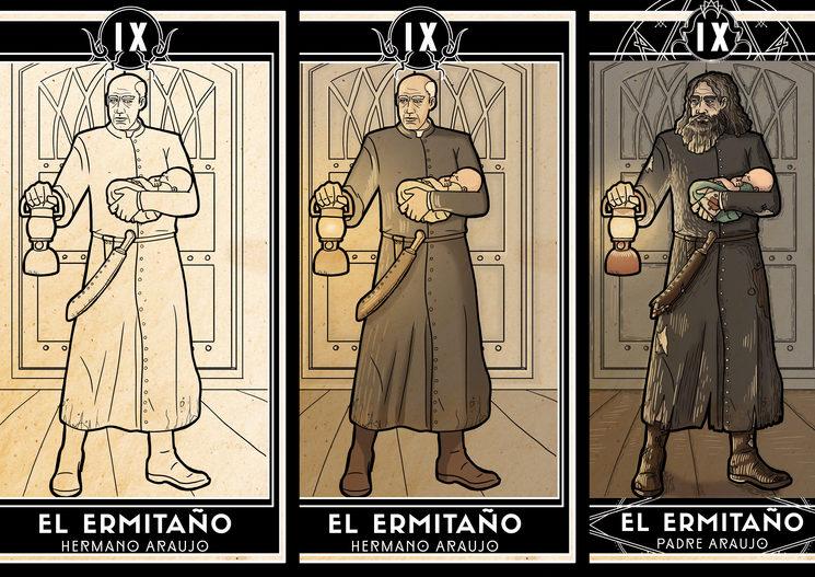 Evolución de la ilustración del Hermitaño