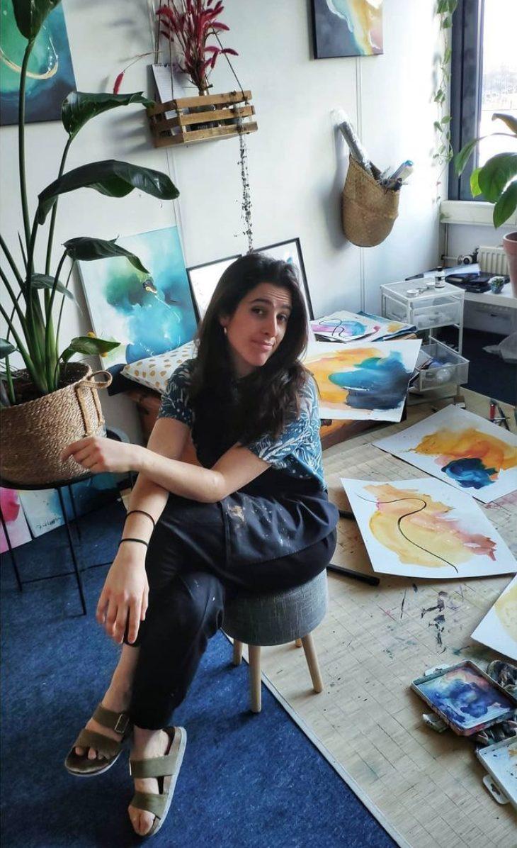 Sonsoles Masiá en su estudio - Foto de Max Romeo Grosfeld