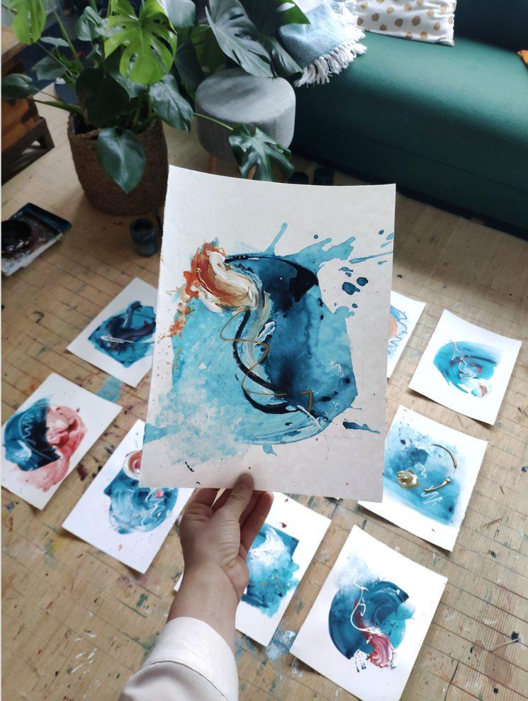 Bocetos de Sonsoles Masiá para la portada del disco