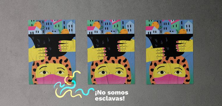 Las Jornaleras sostienen la vida. Ilustración: Emma Gascó.