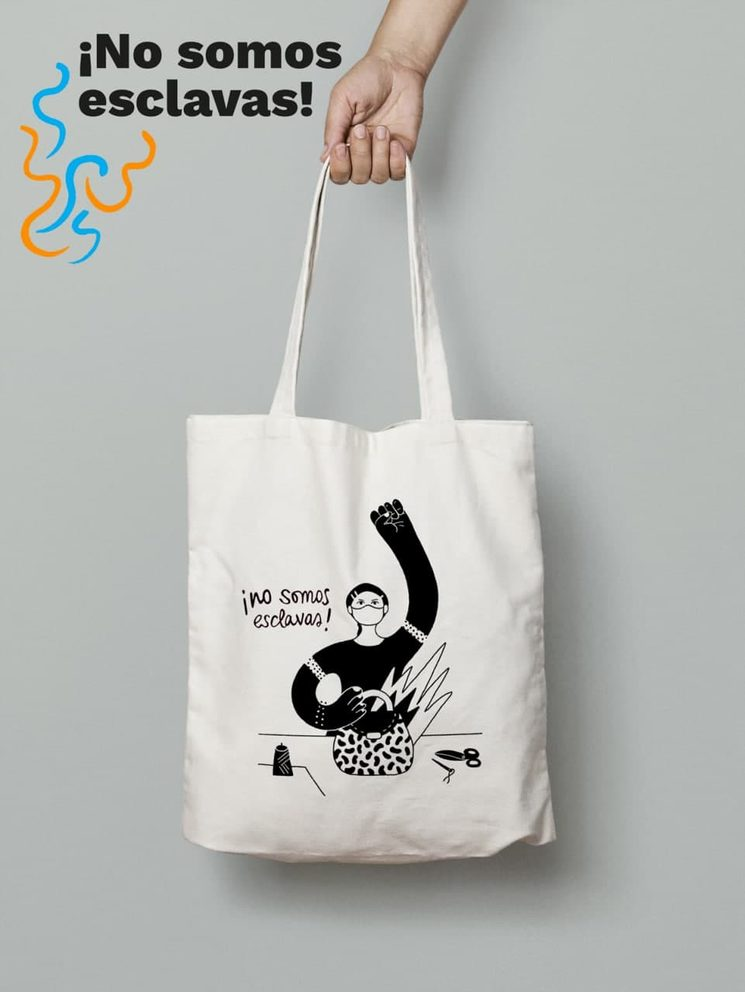 Bolsa con ilustración: ¡No somos esclavas!