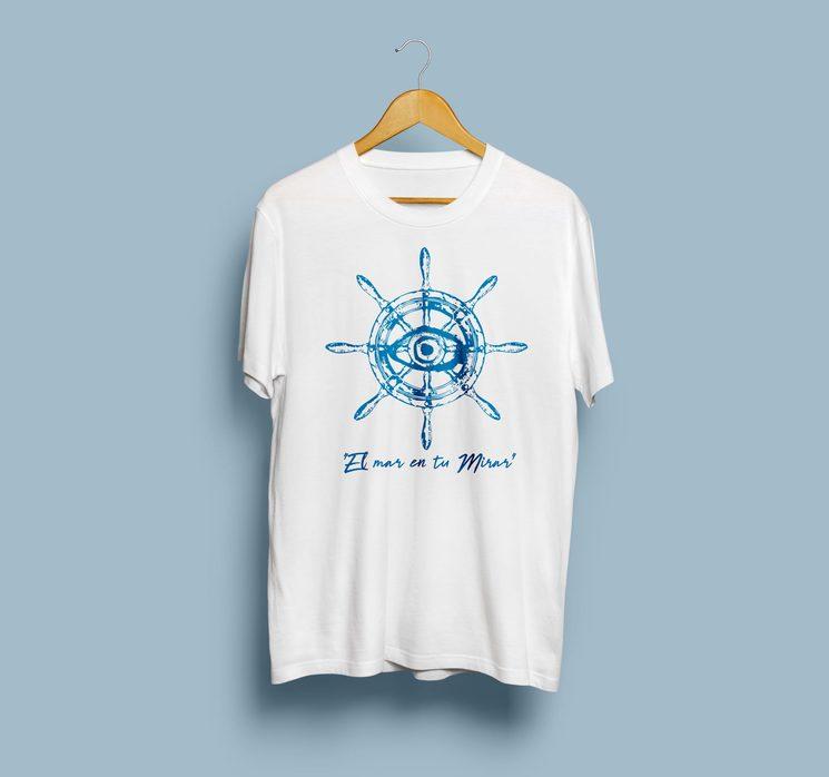 """Camiseta edición """"El mar en tu mirar"""" Blanca"""