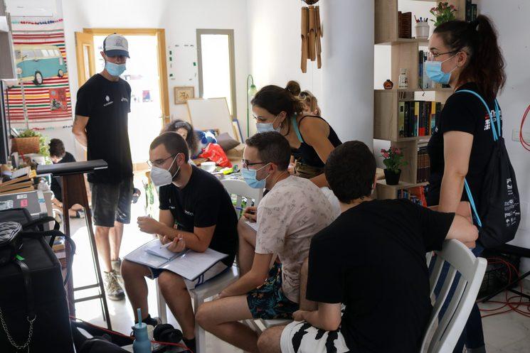 El equipo durante el rodaje del cortometraje