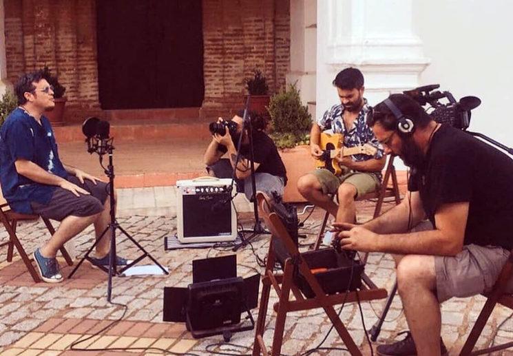 Grabación del videoclip Feliz y feo, junio 2020.