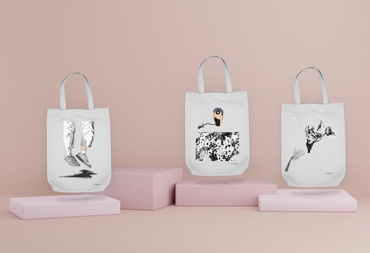 """Diseños exclusivos para las tote bags de """"Escenas"""""""