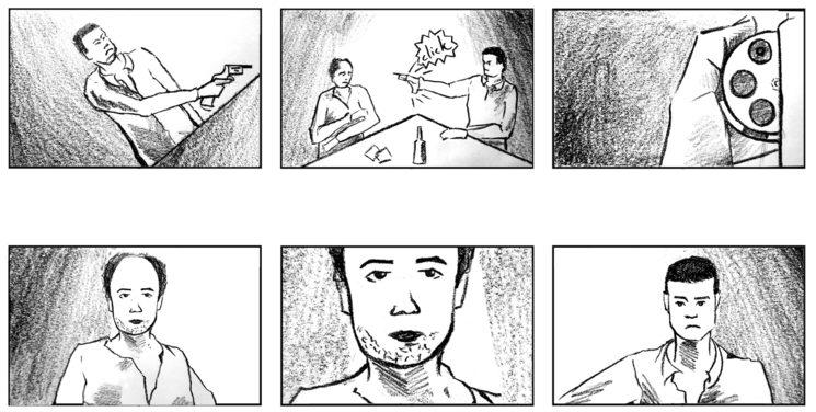 Ilustradora Elisabeth Lopez Saiz. Página del storyboard de JTUS.