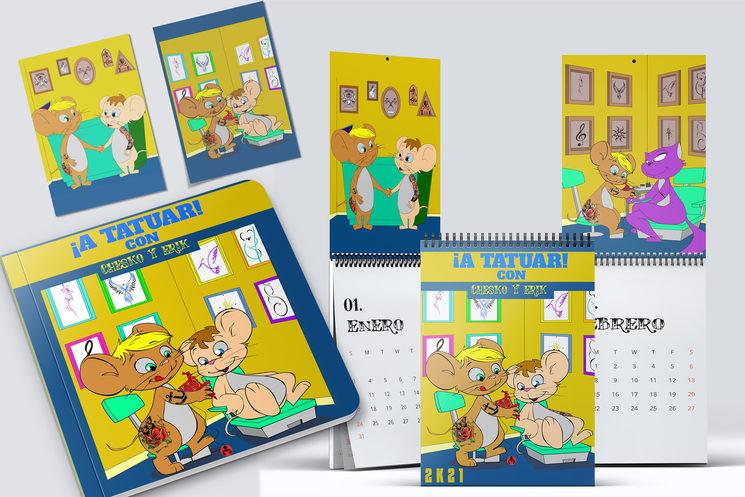 Libro + Calendario de Pared A4 + 2 laminas