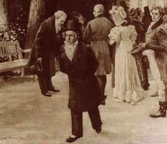 Encuentro de Beethoven y Goethe con la familia real