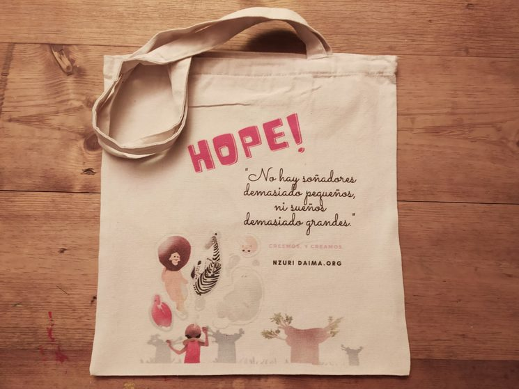 "Bolsa hope ""creer es crear"""