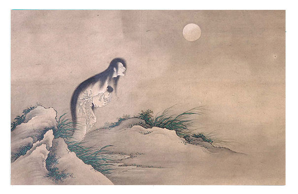 Female Ghost in the Moonlight. School of Katsushika Hokusai. Unknown.