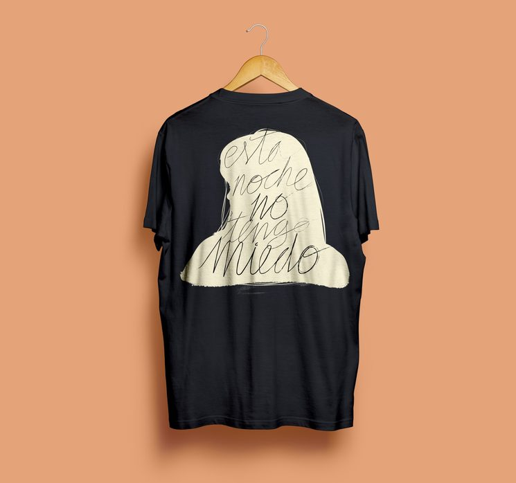 """Camiseta """"Esta noche no tengo miedo"""""""