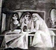 Obra de Francisco Aguilera Amate en el restaurante Las Camachas de Montilla.