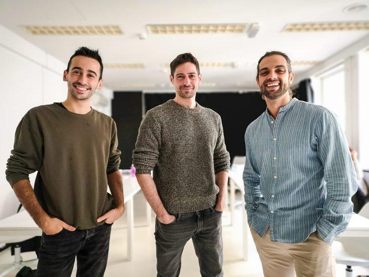 Jorge Vidal, Andrés Acevedo y Christian Escuredo en la primera lectura de guion. Fotografía: Olga L. Hidalgo
