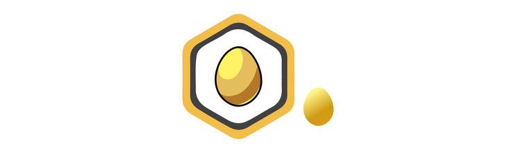 Logro e insignia Huevo de Oro