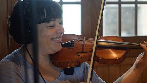 Cristina Padrón al violín