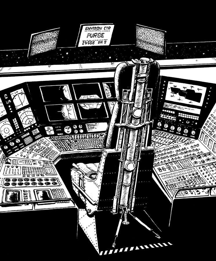 Desde el puente de mando, podréis observar el espacio... y los horrores que alberga.