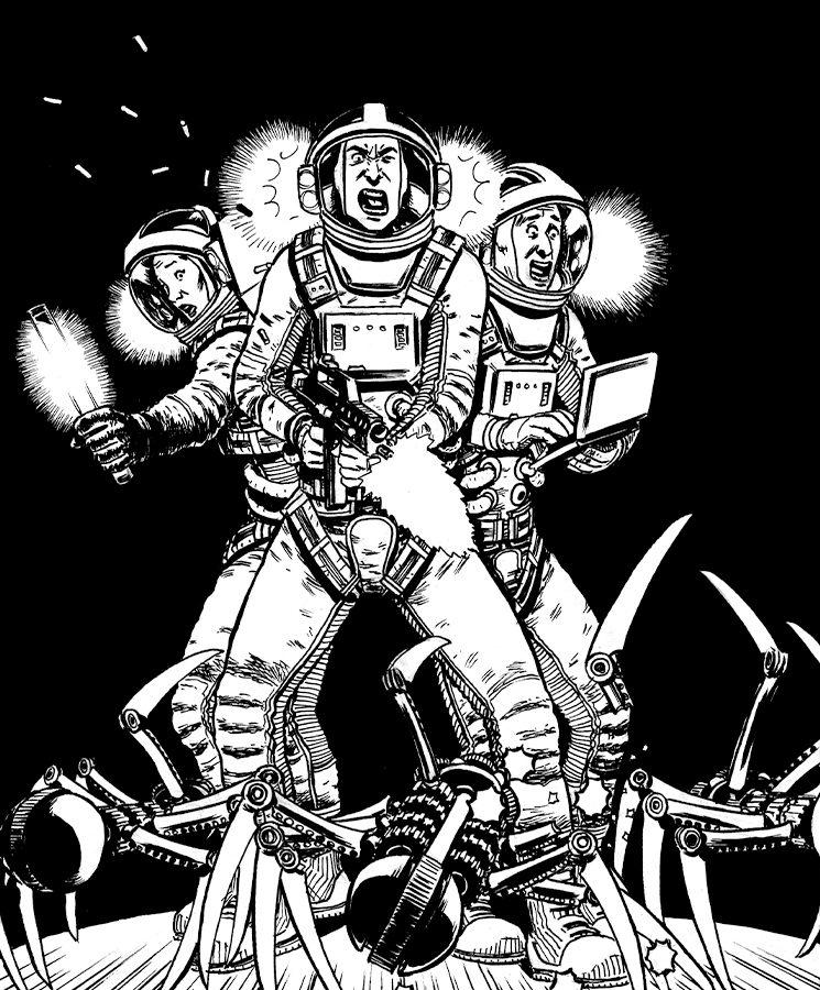Si quieres sobrevivir en el espacio, necesitarás a todo un equipo que te cubra las espaldas.