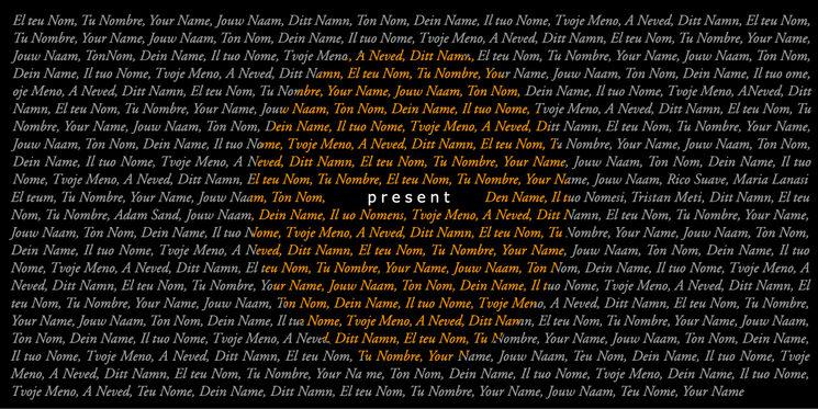 Etiqueta amb el teu nom