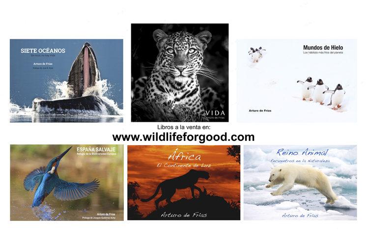 Mis seis libros de fotografía, a la venta en www.wildlifeforgood.com